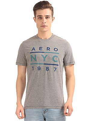 Aeropostale Embroidered Front Crew Neck T-Shirt