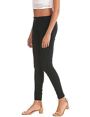 Elle Quilted Panel Solid Jeggings