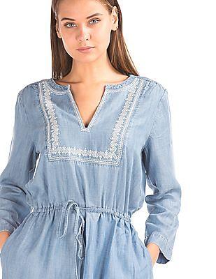GAP Tencel Embroidered Dress