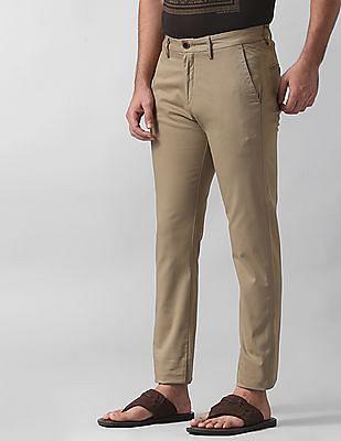 True Blue Slim Fit Patterned Trousers