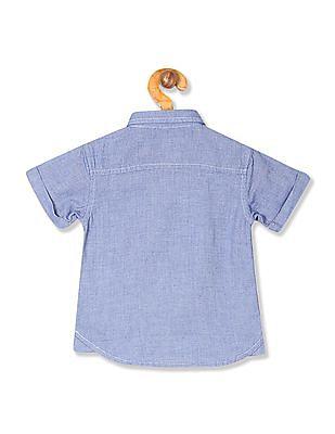 Donuts Boys Short Sleeve Patterned Shirt
