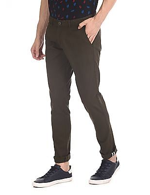 Ruggers Mid Rise Tapered Fit Trousers