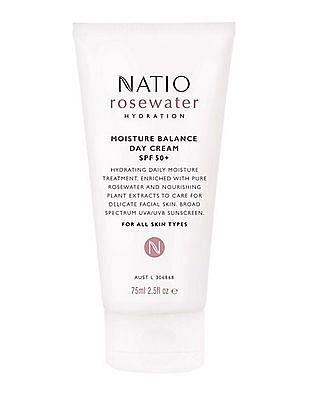 NATIO Rosewater Hydration Moisture Balance Day SPF 50+
