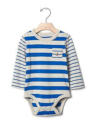 GAP Baby Multi Stripe Pocket Bodysuit