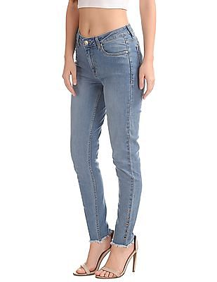 Flying Machine Women Skinny Fit Mid Rise Jeans