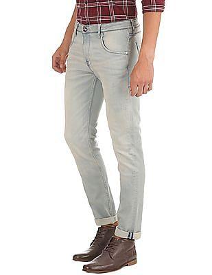 Ed Hardy Slim Fit Light Wash Jeans
