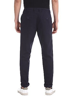 Ruggers Blue Modern Slim Fit Patterned Trousers