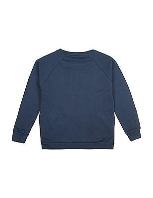 U.S. Polo Assn. Kids Girls Star Print Raglan Sleeve Sweatshirt