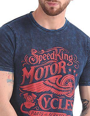 Cherokee Printed Dyed T-Shirt