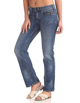Flying Machine Betty Regular Fit Mid Rise Jeans