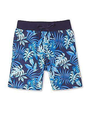 FM Boys Boys Fern Print Knit Shorts