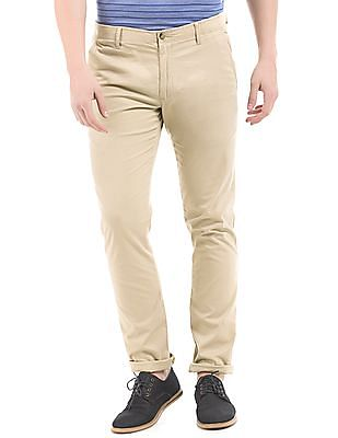 Arrow Sports Mid Rise Tapered Fit Chinos