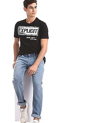 Colt Black Printed Nep T-Shirt