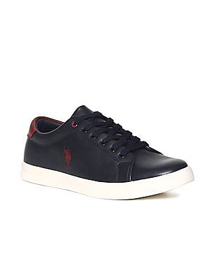 U.S. Polo Assn. Blue Round Toe Low Top Sneakers