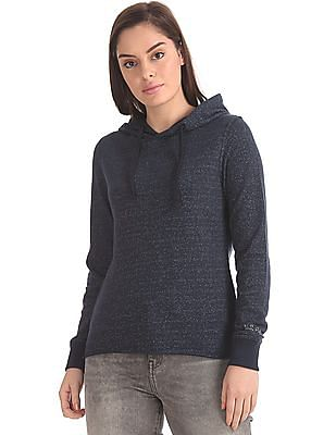 U.S. Polo Assn. Women Heathered Hooded Sweatshirt