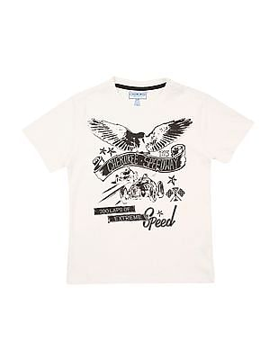 Cherokee Boys Graphic Print Round Neck T-Shirt