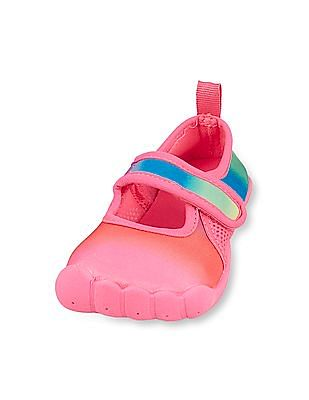 The Children's Place Toddler Girl Strap Rainbow Aquaglove Water Sneaker