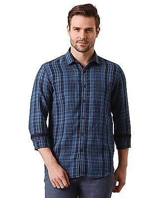 True Blue Slim Fit Check Shirt