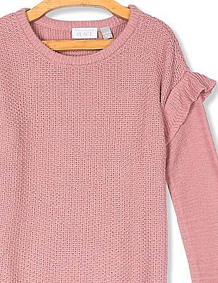 The Children's Place Girls Ruffle Sleeve Sweater