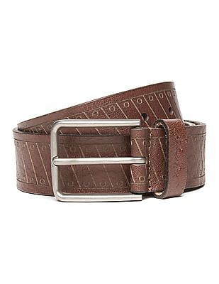 Ed Hardy Patterned Leather Belt