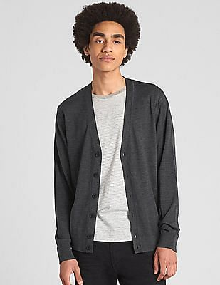 GAP V-Neck Cardigan Sweater in Merino Wool