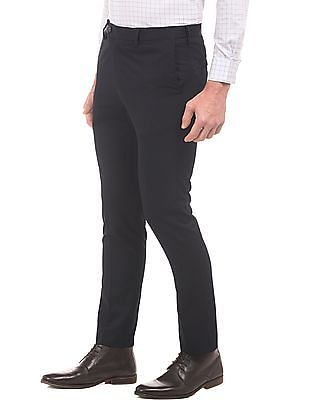 Arrow Solid Tapered Fit Trousers