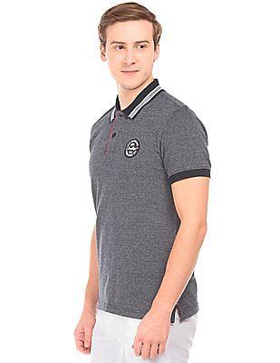 Izod Two Tone Pique Polo Shirt