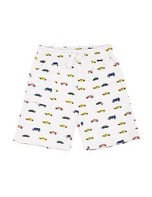 Donuts Boys Cotton Shorts - Pack Of 2