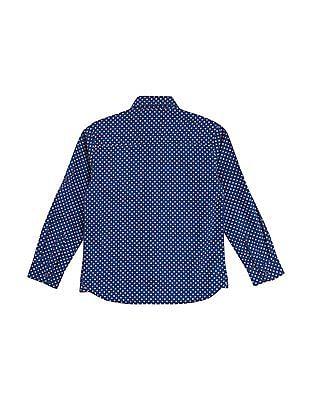 U.S. Polo Assn. Kids Boys Allover Print Shirt
