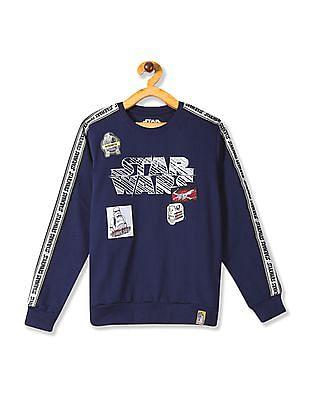 Colt Blue Boys Crew Neck Star Wars Graphic Sweatshirt