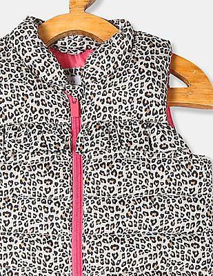 GAP Baby Beige Printed Warmest Vest