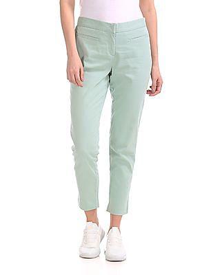 Elle Studio Solid Twill Pants