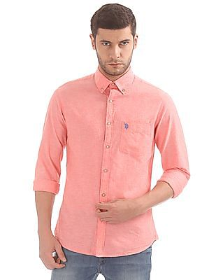U.S. Polo Assn. Regular Fit Cotton Linen Shirt