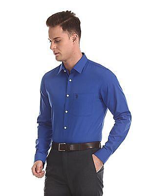 USPA Tailored Long Sleeve Solid Shirt