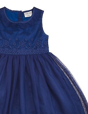 Cherokee Girls Embroidered Bodice Fit And Flare Dress