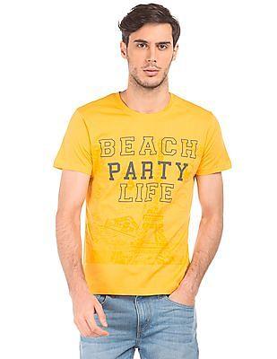 Ruggers Regular Fit Printed T-Shirt