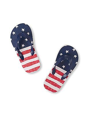The Children's Place Boys Americana Flip Flop