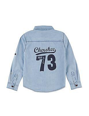 Cherokee Boys Washed Chambray Shirt