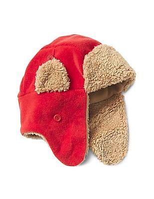 GAP Toddler Boy Red Pro Fleece Trapper Hat