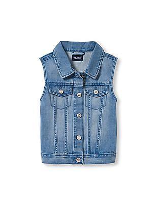 The Children's Place Girls Sleeveless Denim Vest