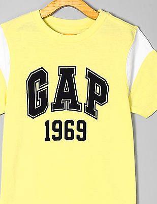 GAP Yellow Boys Logo Short Sleeve T-Shirt