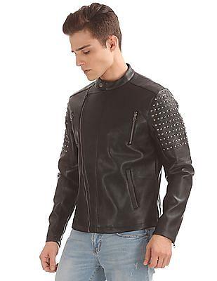 Ed Hardy Stud Embellished Biker Jacket