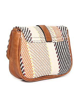 SUGR Magnetic Snap Patterned Sling Bag
