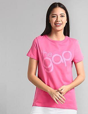 GAP Pink Logo Short Sleeve Crewneck T-Shirt