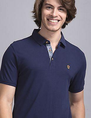 True Blue Blue Slim Fit Pique Polo Shirt