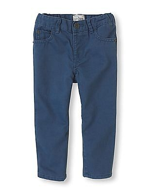 The Children's Place Baby Boy Solid Flat Front Trousers