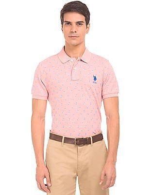 U.S. Polo Assn. Floral Print Slim Fit Polo Shirt