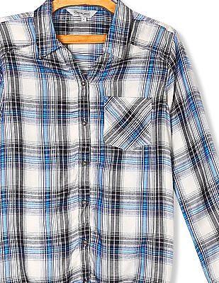 Cherokee Tie Up Hem Check Shirt