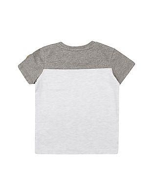 Cherokee Boys Flock Print Crew Neck T-Shirt