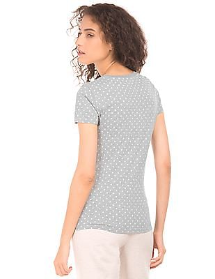Aeropostale Star Print Round Neck T-Shirt